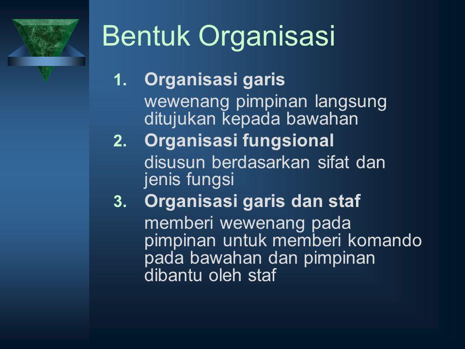Bentuk Organisasi Organisasi garis