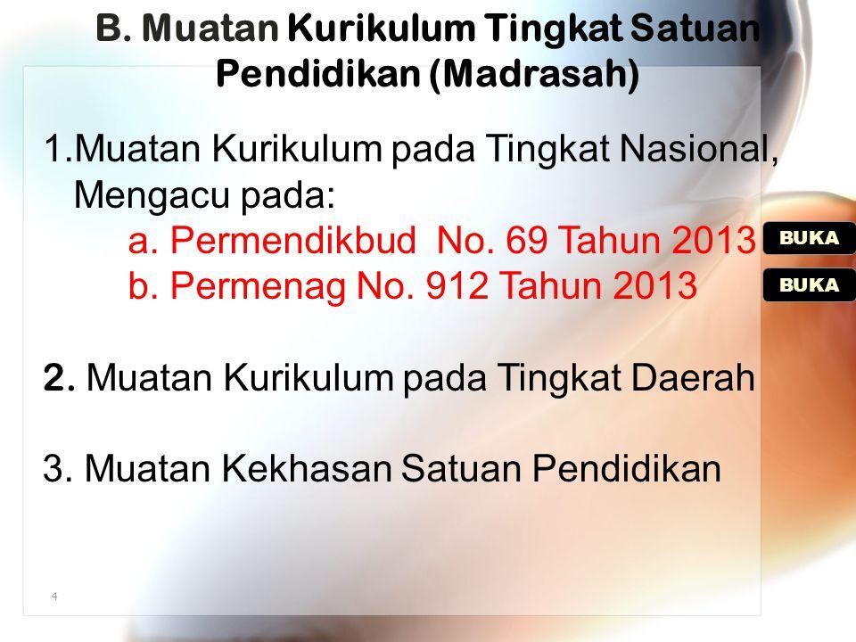 B. Muatan Kurikulum Tingkat Satuan Pendidikan (Madrasah)