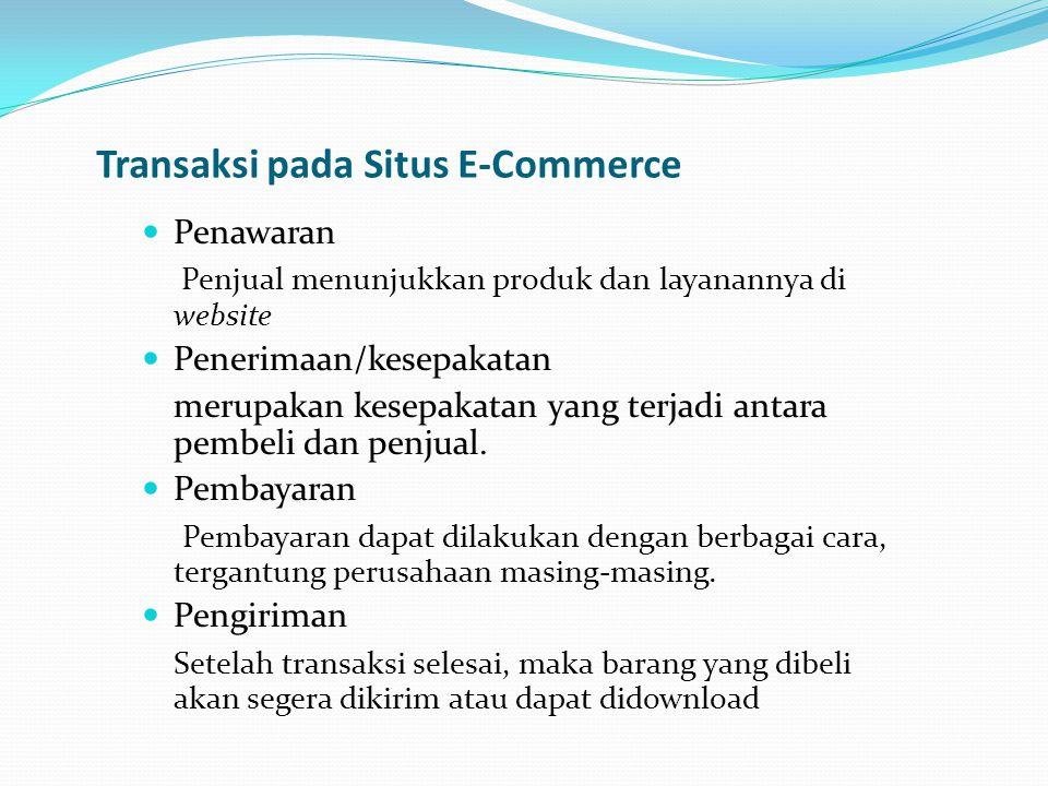 Transaksi pada Situs E-Commerce