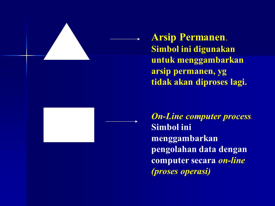 Arsip Permanen. Simbol ini digunakan untuk menggambarkan arsip permanen, yg tidak akan diproses lagi.