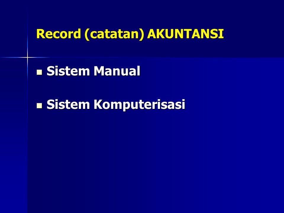 Record (catatan) AKUNTANSI