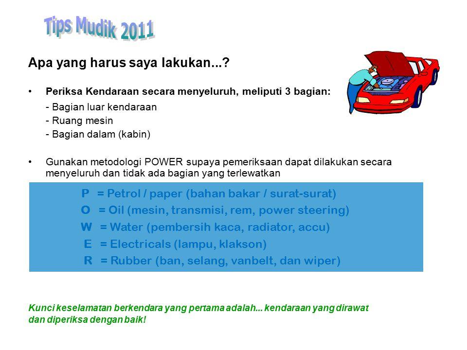 Tips Mudik 2011 Apa yang harus saya lakukan...