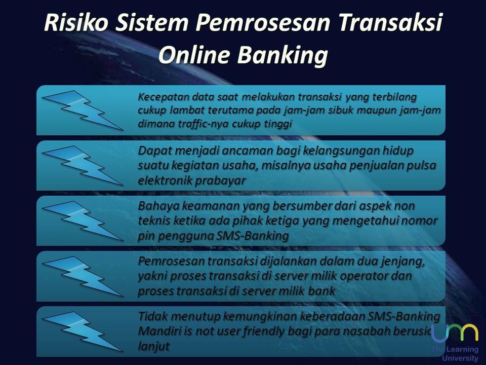 Risiko Sistem Pemrosesan Transaksi Online Banking