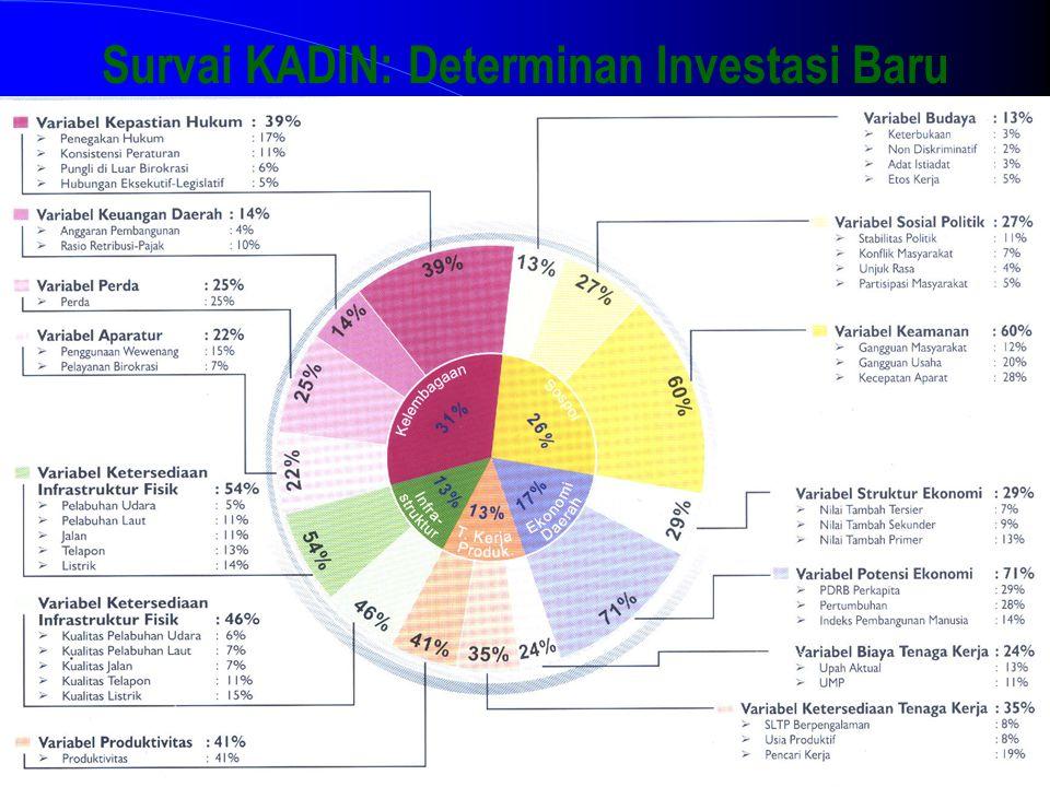 Survai KADIN: Determinan Investasi Baru