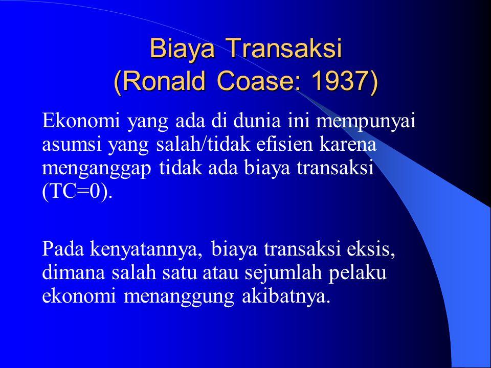 Biaya Transaksi (Ronald Coase: 1937)