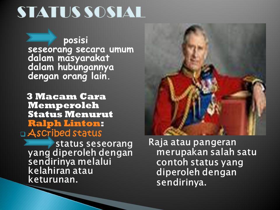 STATUS SOSIAL Ascribed status