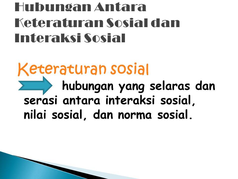 Hubungan Antara Keteraturan Sosial dan Interaksi Sosial