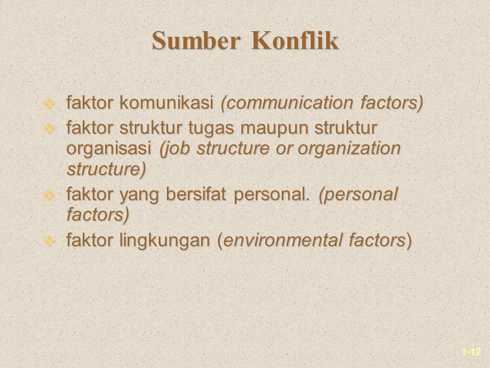 Sumber Konflik faktor komunikasi (communication factors)