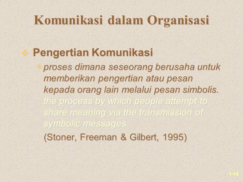 Komunikasi dalam Organisasi