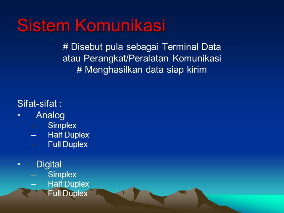 Sistem Komunikasi # Disebut pula sebagai Terminal Data
