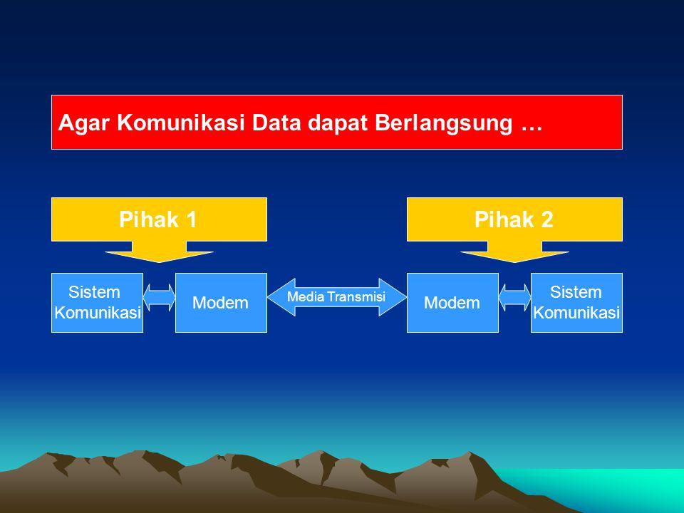 Agar Komunikasi Data dapat Berlangsung …