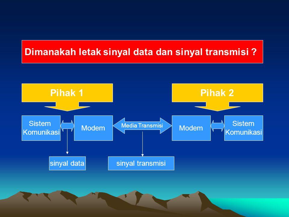 Dimanakah letak sinyal data dan sinyal transmisi