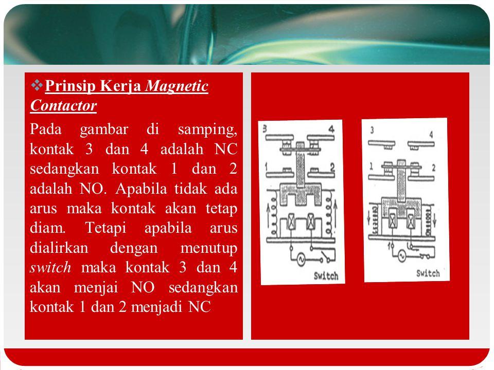Prinsip Kerja Magnetic Contactor