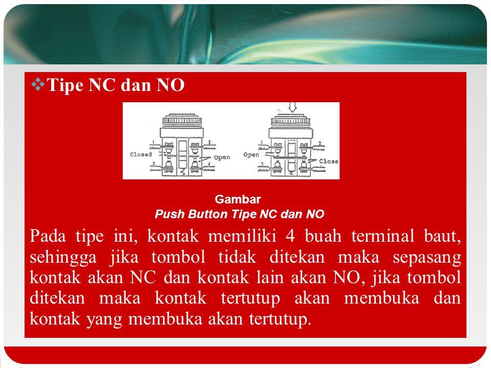 Push Button Tipe NC dan NO