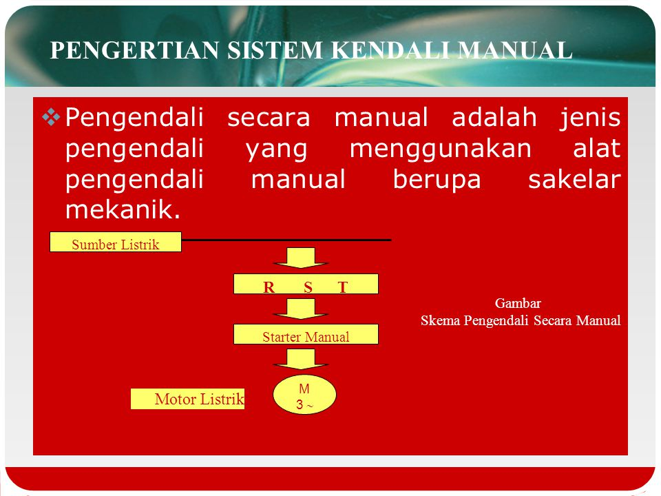 PENGERTIAN SISTEM KENDALI MANUAL