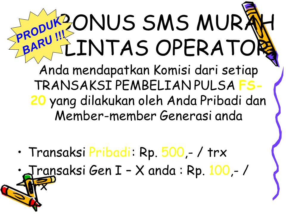 BONUS SMS MURAH LINTAS OPERATOR