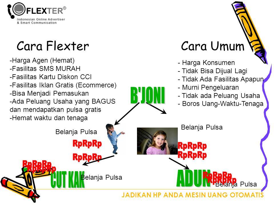 B JONI ADUN CUT KAK Cara Flexter Cara Umum Harga Agen (Hemat)