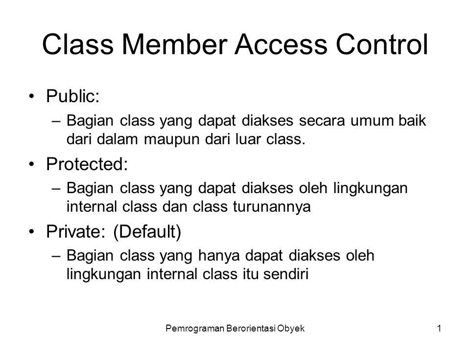 Class Member Access Control