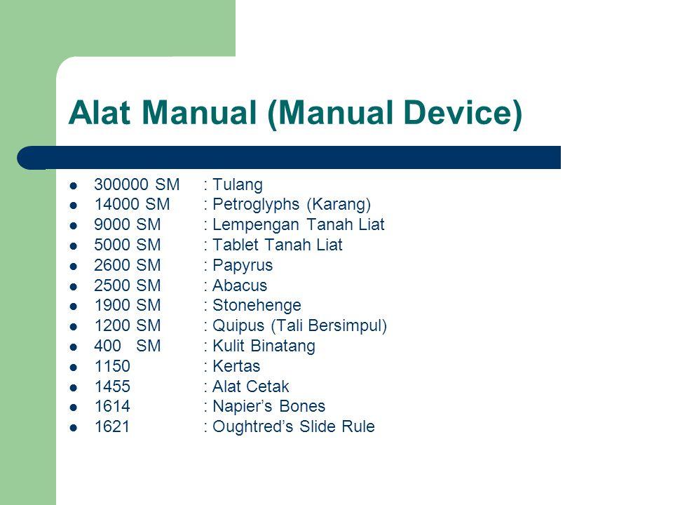 Alat Manual (Manual Device)