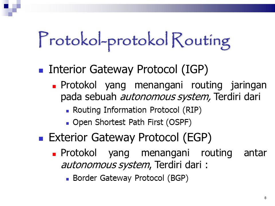 Protokol-protokol Routing