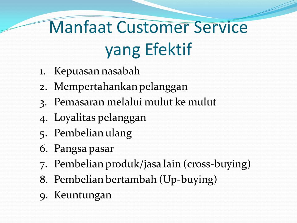 Manfaat Customer Service yang Efektif