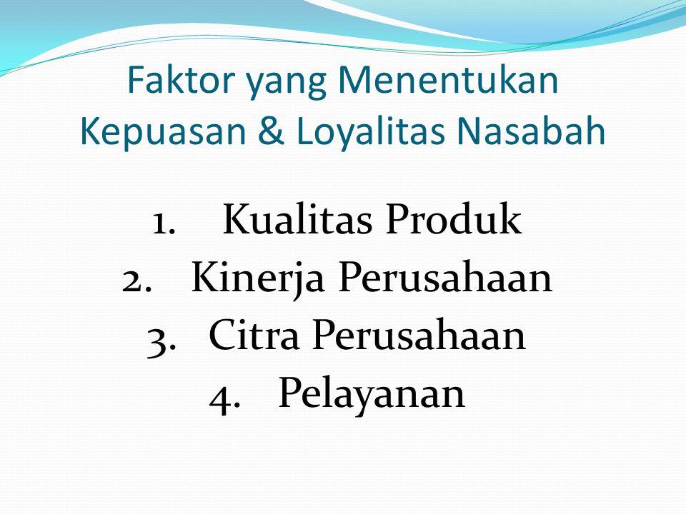 Faktor yang Menentukan Kepuasan & Loyalitas Nasabah