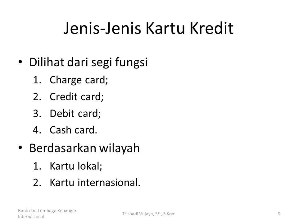 Jenis-Jenis Kartu Kredit