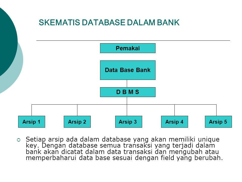 SKEMATIS DATABASE DALAM BANK