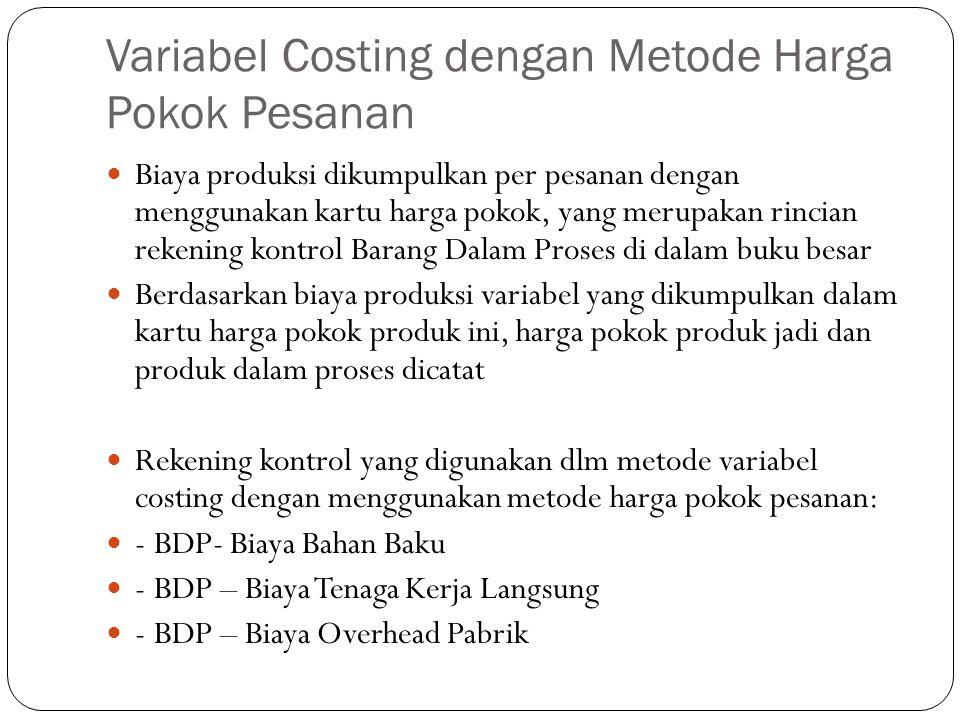 Variabel Costing dengan Metode Harga Pokok Pesanan