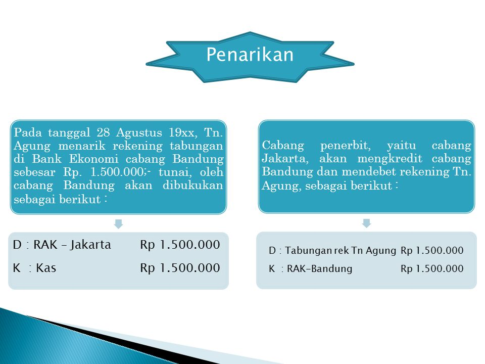 D : Tabungan rek Tn Agung Rp 1.500.000