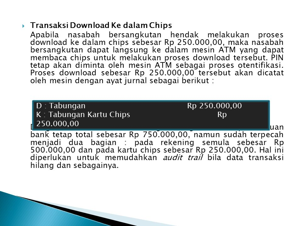 Transaksi Download Ke dalam Chips