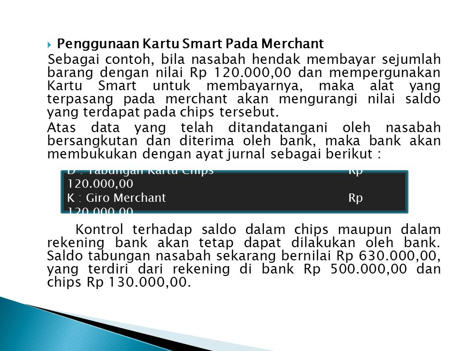 Penggunaan Kartu Smart Pada Merchant