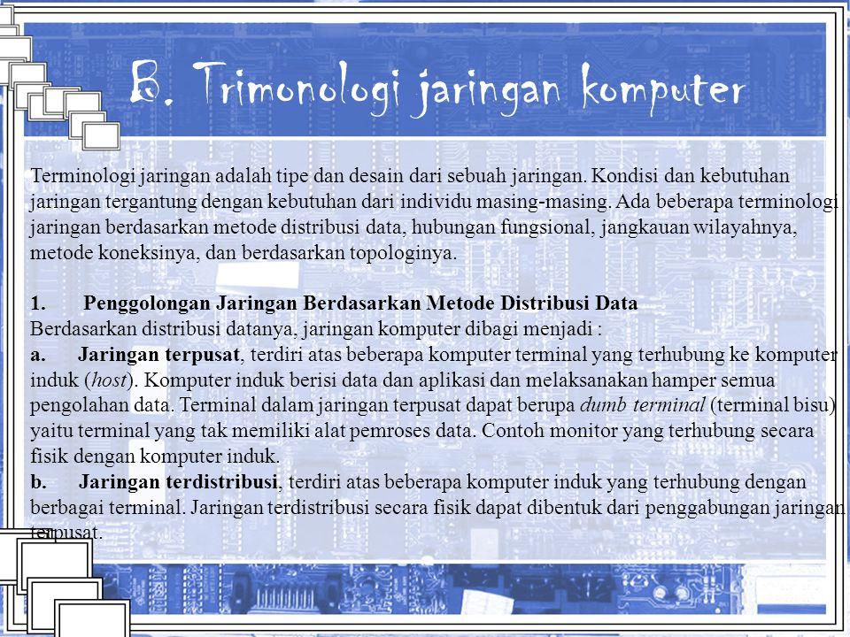 B. Trimonologi jaringan komputer
