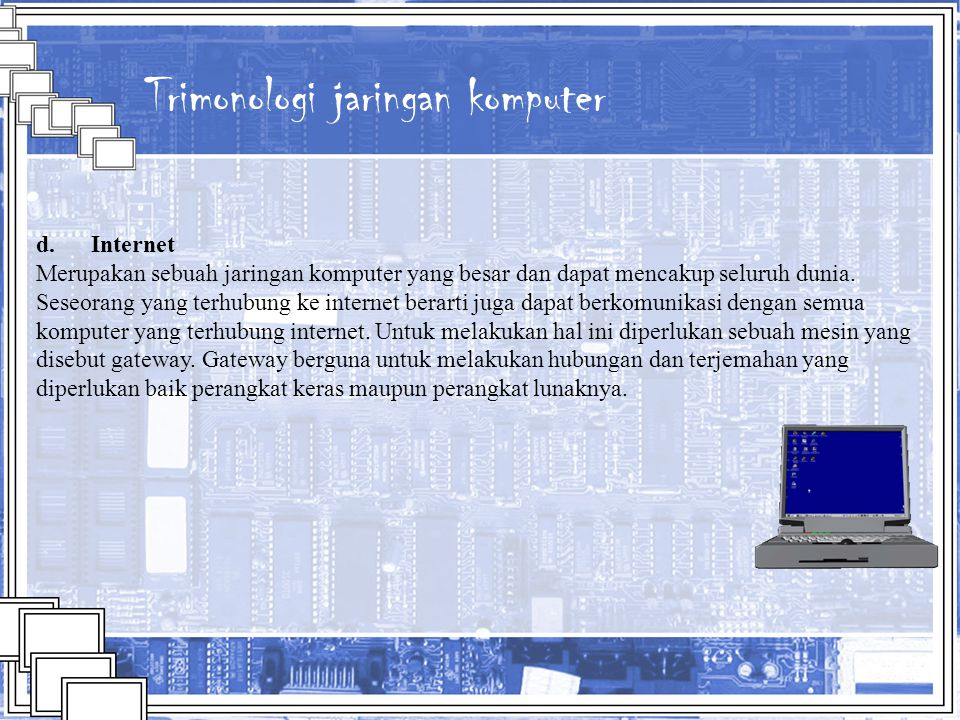 Trimonologi jaringan komputer