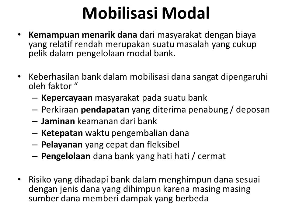 Mobilisasi Modal