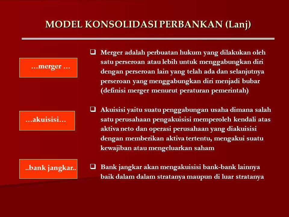MODEL KONSOLIDASI PERBANKAN (Lanj)