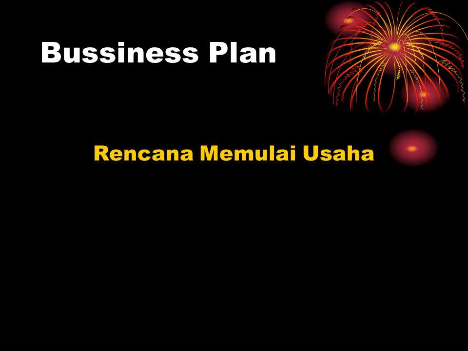 Bussiness Plan Rencana Memulai Usaha