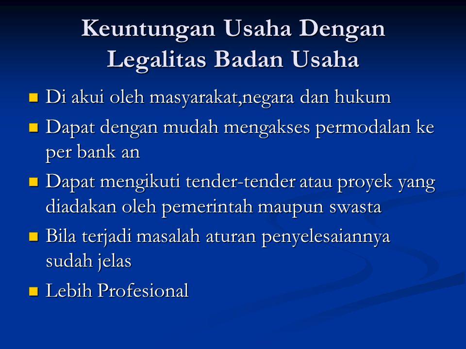 Keuntungan Usaha Dengan Legalitas Badan Usaha