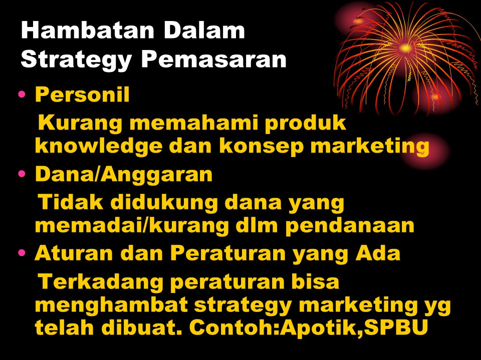 Hambatan Dalam Strategy Pemasaran