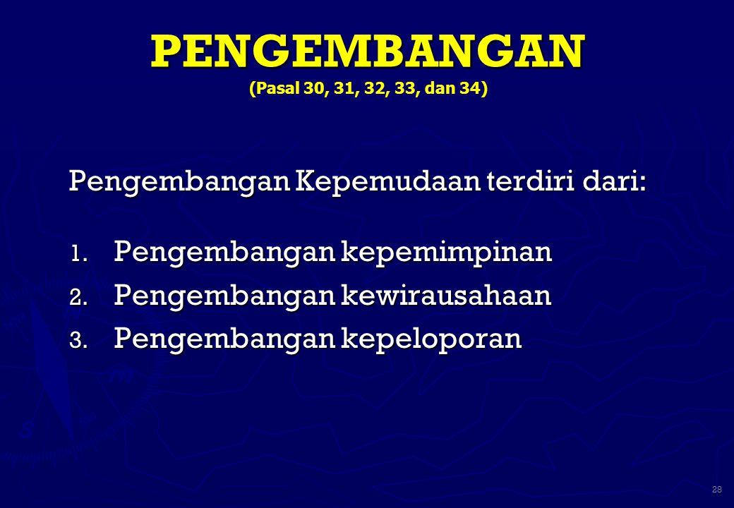PENGEMBANGAN (Pasal 30, 31, 32, 33, dan 34)