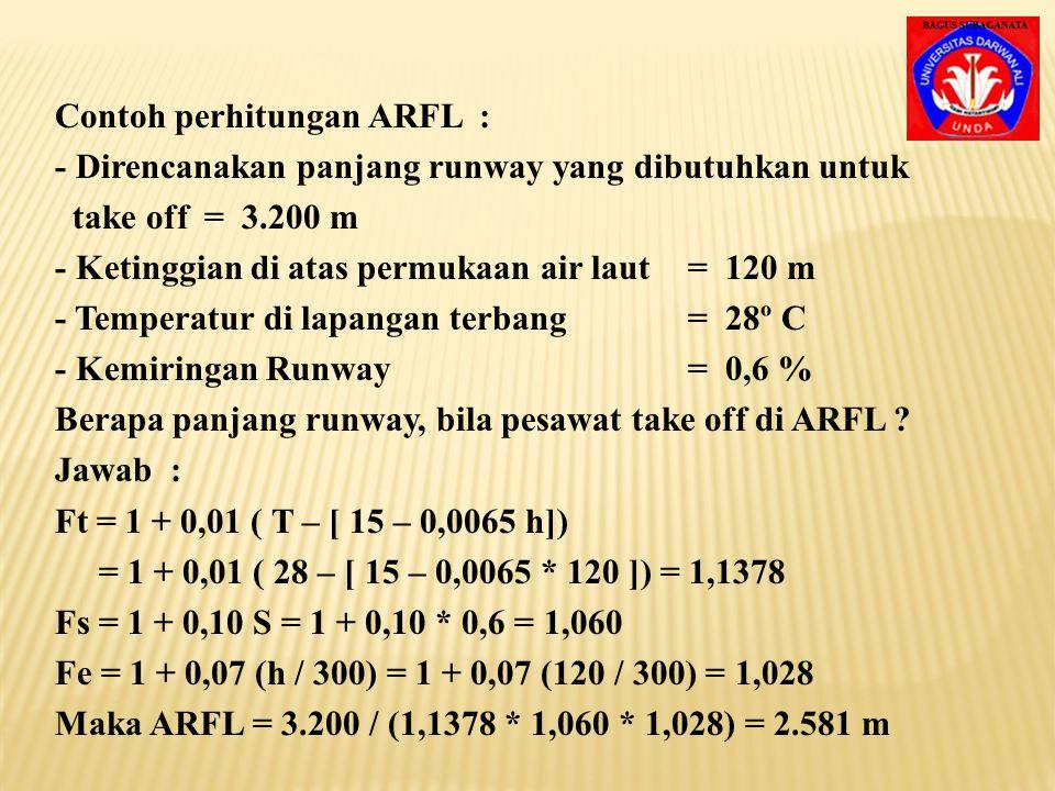 Contoh perhitungan ARFL :