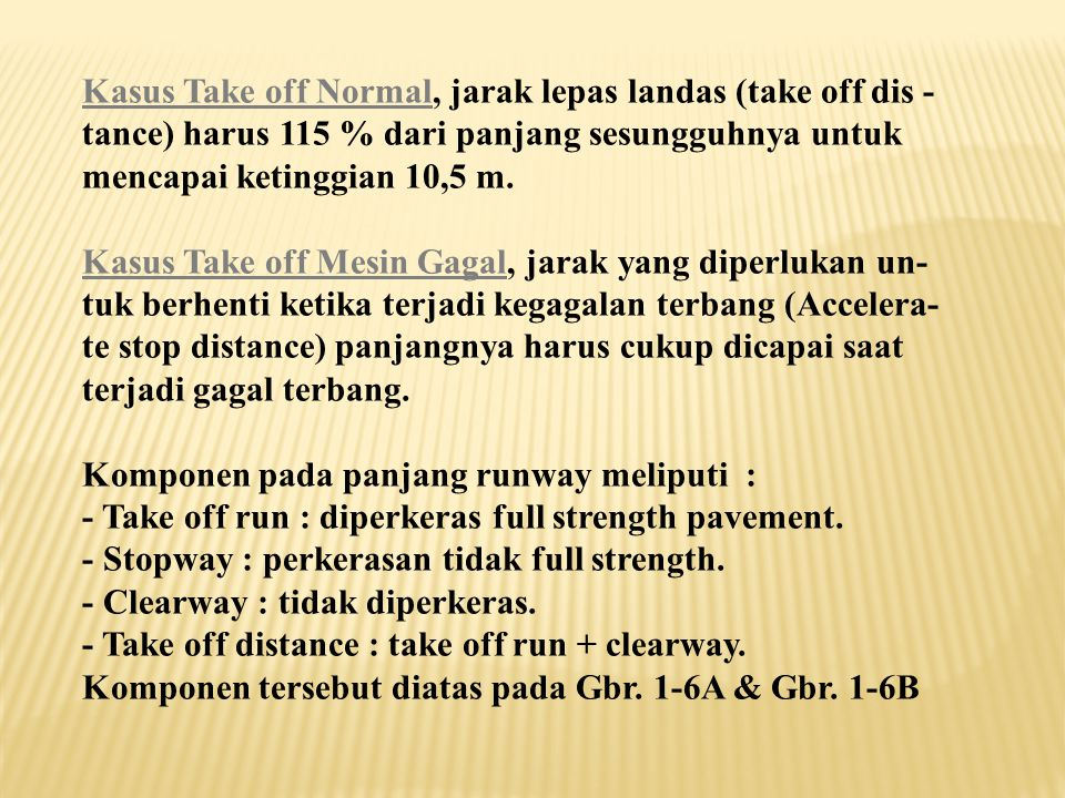 Kasus Take off Normal, jarak lepas landas (take off dis -