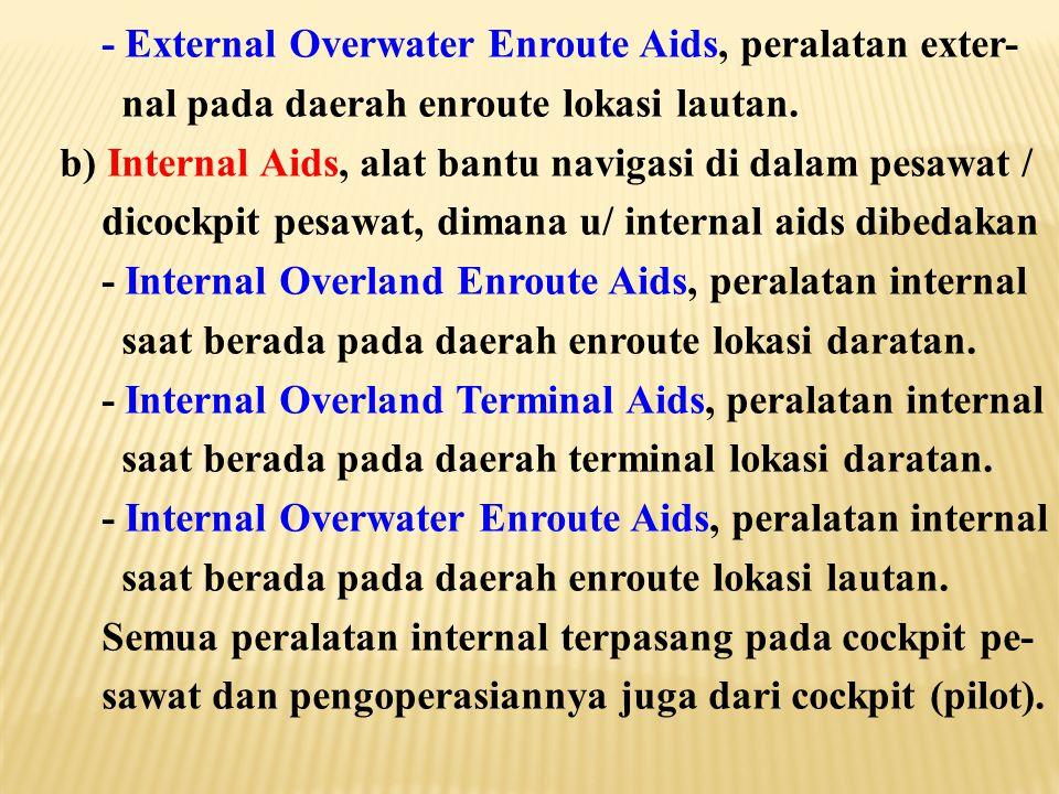 - External Overwater Enroute Aids, peralatan exter-