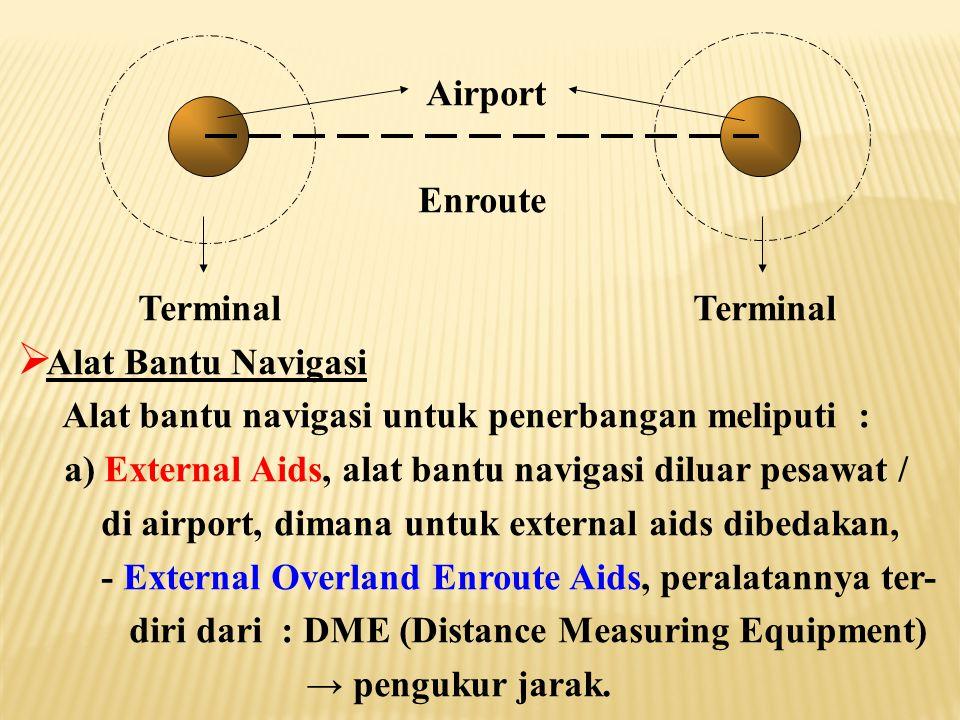 Airport Enroute. Terminal Terminal. Alat Bantu Navigasi.