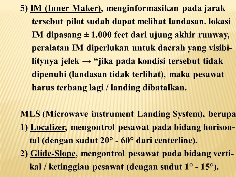 5) IM (Inner Maker), menginformasikan pada jarak