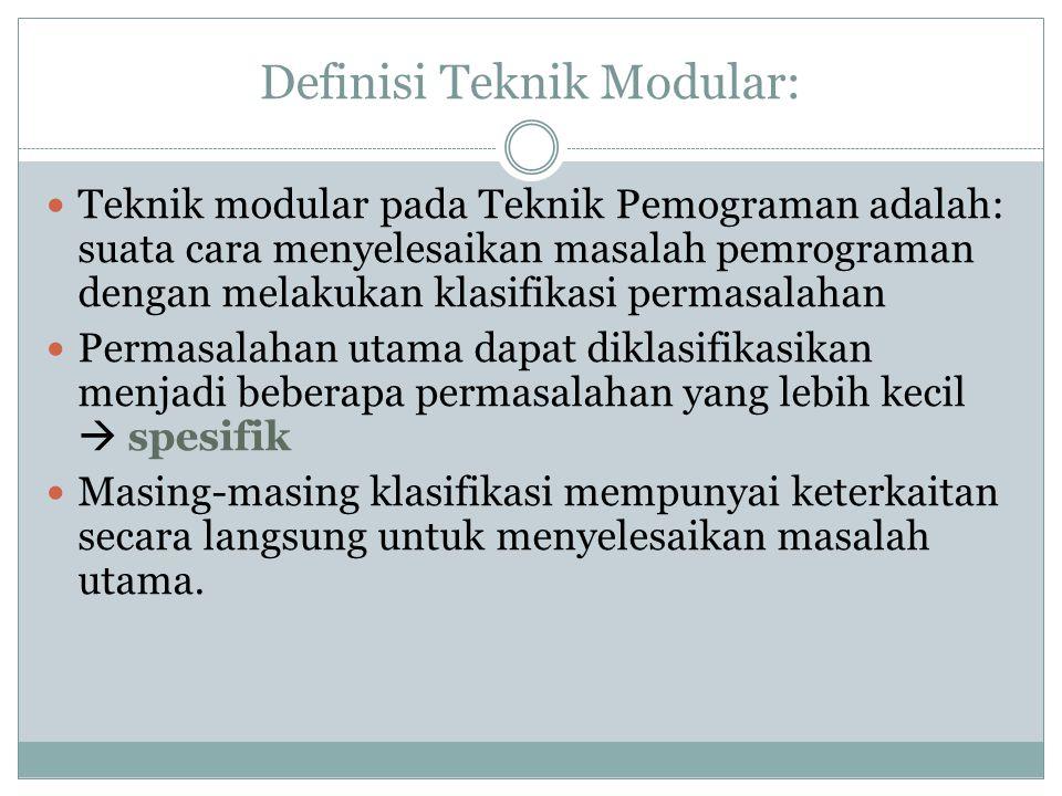 Definisi Teknik Modular: