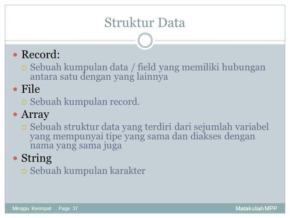 Struktur Data Record: File Array String