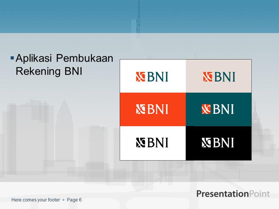 Aplikasi Pembukaan Rekening BNI