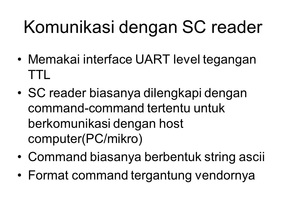 Komunikasi dengan SC reader