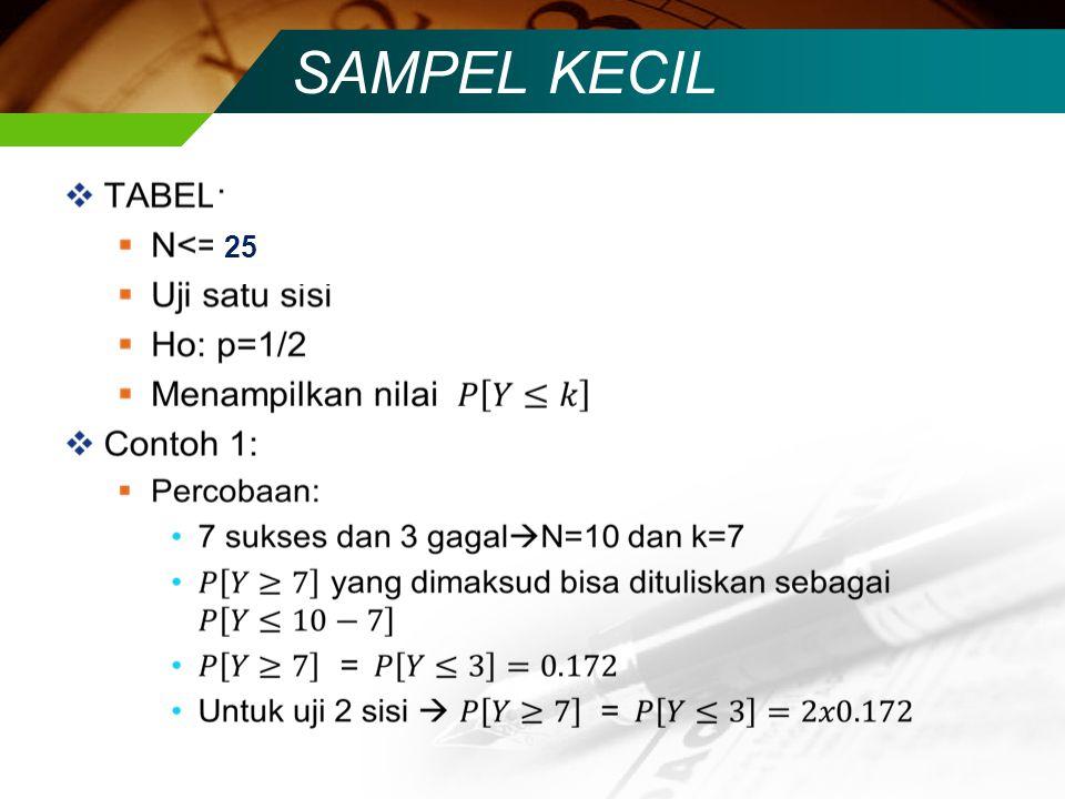 SAMPEL KECIL 25 25 25